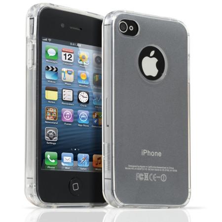 Pouzdro Meliconi iPhone 4/4s Shiny Transparent  a ochraná fólie na display