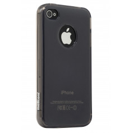 Pouzdro Meliconi iPhone 4/4s Shiny Smoky a ochraná fólie na display