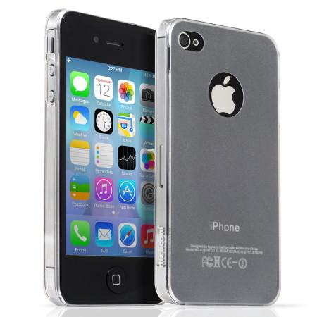 Pouzdro Meliconi iPhone 4/4s SLIM transparent  a ochraná fólie na display