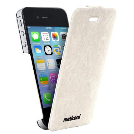 Pouzdro Meliconi iPhone 4/4s SLIM FLAP bílá