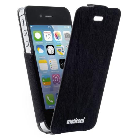 Pouzdro Meliconi iPhone 4/4s SLIM FLAP černé