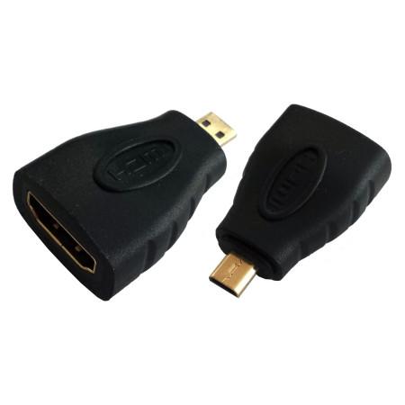 InHouse MKF-1391 adaptér/redukce HDMI-HDMI Micro, černá