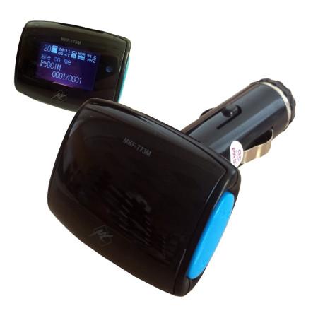 FM transmitter InHouse MKF-T73M, přehrává mp3 soubory do FM rádia
