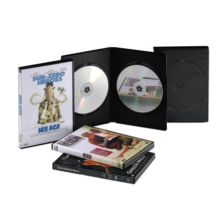 Klasický černý plastový obal pro 2 DVD disky 2x5B 5ks v balení