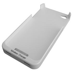 InHouse MKF-WR2 i4/i4S bílé pouzdro telefonu s nabíjecí indukční cívkou pro iPhone 4/4S