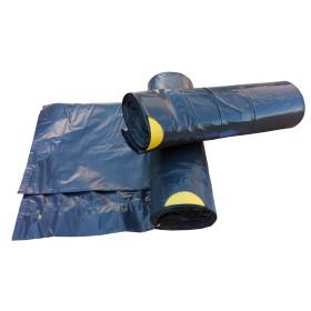Zatahovací sáček do koše 30 litrů Černý 500x600 mm, 1 role (15ks)