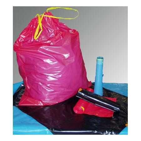 Zatahovací sáček do koše 60 litrů Černý 500x800 mm, 1 role (10ks)