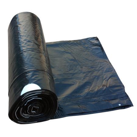 Zatahovací pytel 120 litrů Černý 700x1000 mm, 1 role (25ks)