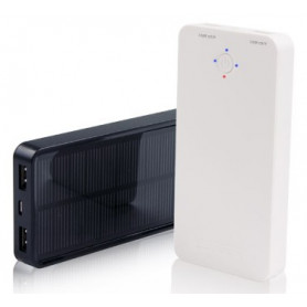 InHouse Power Bank MKF-Solar 5000 Black, 5000mAh, 2xUSB výstup 5V/2A