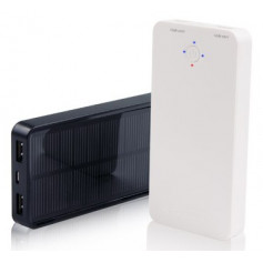 InHouse Power Bank MKF-Solar 5000 Black, 5000mAh, 2xUSB výstup 5V/2A