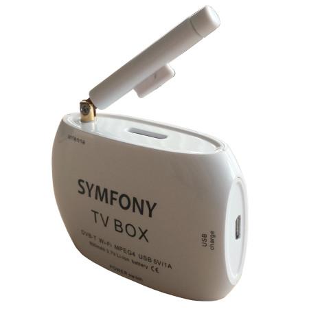 SYMFONY TV BOX 1427 White DVB-T tuner,Wi-Fi, pro tablety a mobilní telefony