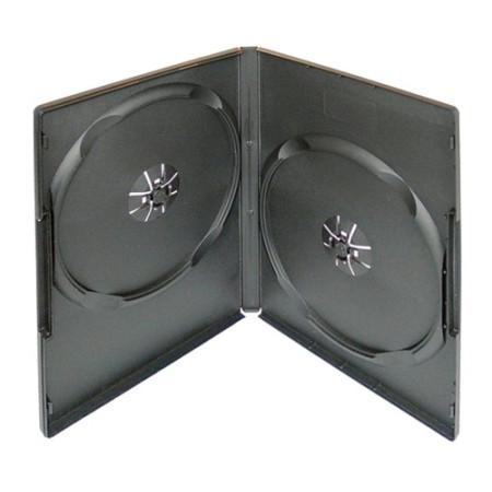 Krabička na 2ks DVD černá InHouse DVD-2B, tloušťka 14mm