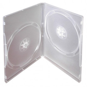 Krabička na 2ks DVD transparent InHouse DVD-2B, tloušťka 14mm