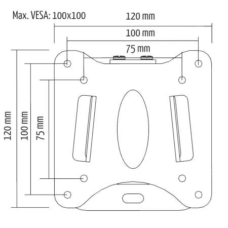 """InHouse MKF-E1455  Fixní držák na TV  pro LCD nebo LED TV s úhlopříčkou 13""""-27"""",Nosnost 30 kg"""