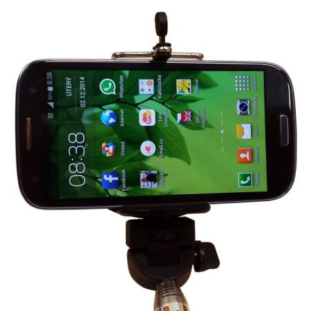 InHouse držák na mobilní telefon MKF-Monopod 2 Simple černý, MONOPOD-TELESKOPICKÝ DRŽÁK