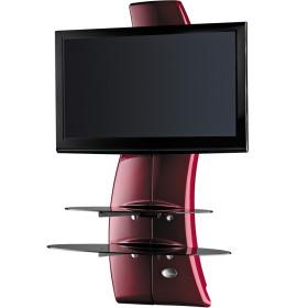 Meliconi Ghost Design 2000 RED, Televizní stojan a 2 poličky + Čistící sada pro TV ZDARMA!