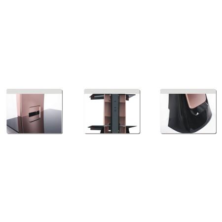 InHouse MKF-Excellent Design Dark Grey Nástěnný držák pro TV a 2 poličky