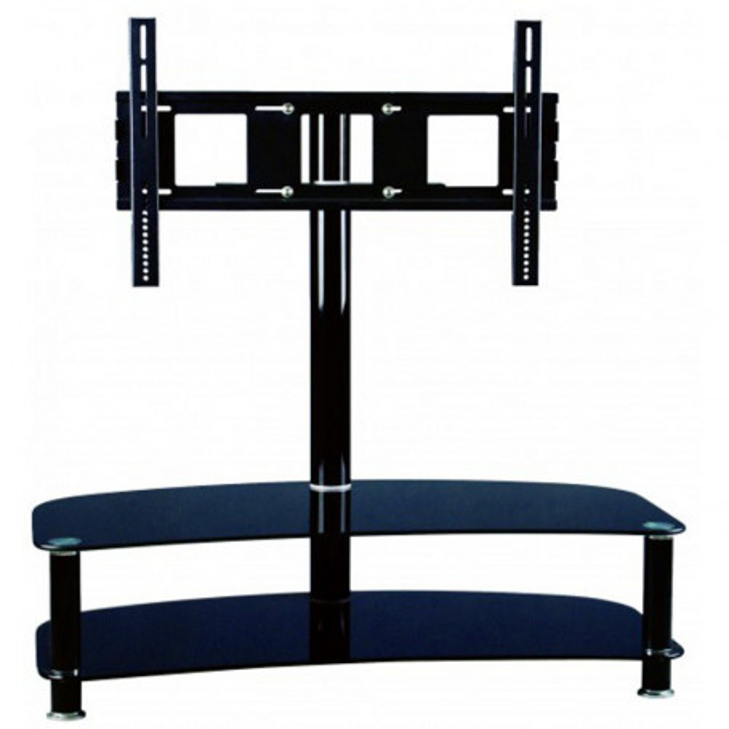 """InHouse MKF-S19C, skleněný stolek s držákem na TV 42"""" - 60"""" a 2 police"""