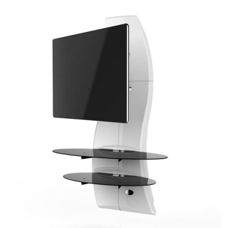 Meliconi Ghost Design 2000 Rotation Bílý, Televizní stojan a 2 poličky + Čistící sada pro TV ZDARMA!