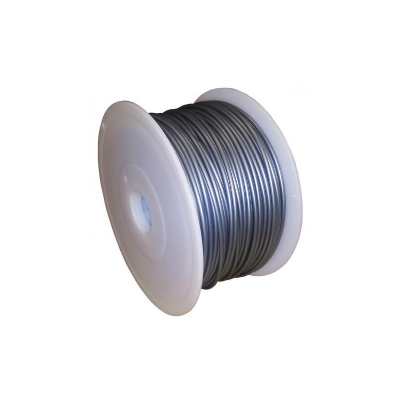 MKF Filament MKF-PLA F1.75 stříbrná, Tisková struna PLA 1,75 mm 1 Kg pro 3D tiskárnu