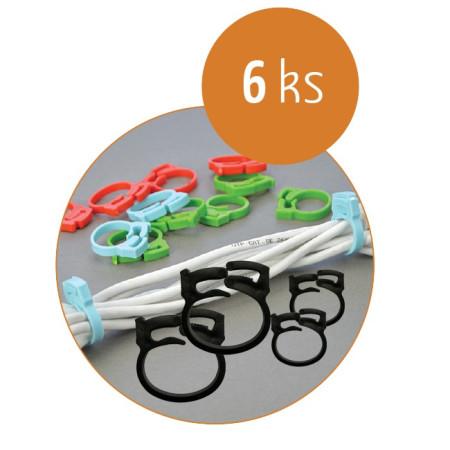 Organizace kabelů MKF-SK22 Black, Balení 6 ks