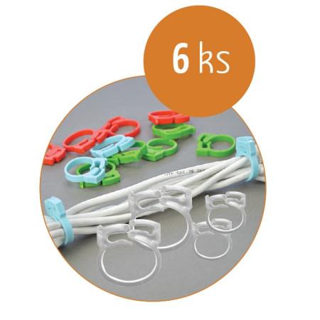 Organizace kabelů MKF-SK23 White, Balení 6 ks