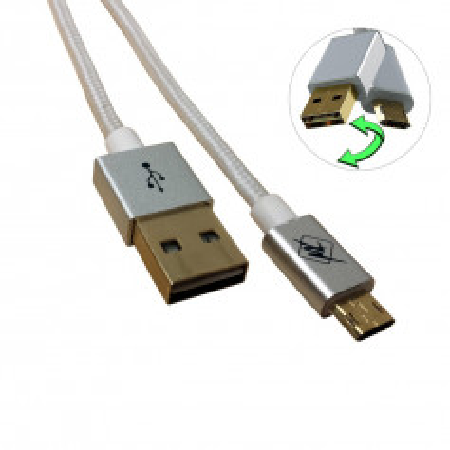 InHouse MKF-Reversible USB/ Micro USB Gold 1,2 WH, bílá