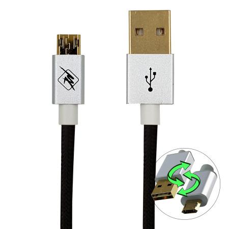 InHouse MKF-REV12BK USB-Micro USB, propojovací kabel, 1,2 m, černý
