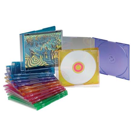 COVER IT Krabička na 1ks CD/DVD Mix barev, 10 ks v balení, 5,2mm