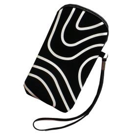 Pouzdro InHouse Flexi Stripes Case černo bílé pro mobil