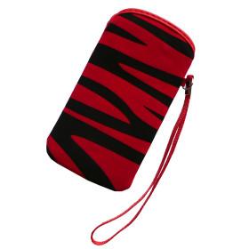 Pouzdro InHouse Flexi Zebra Case červeno černé pro mobil