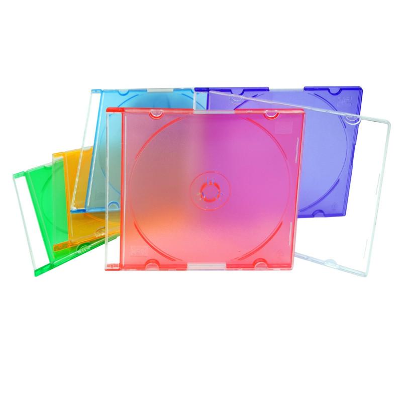 InHouse CCDS-5C Krabička na 1ks CD/DVD Mix barev, 5 ks v balení, 5,2mm