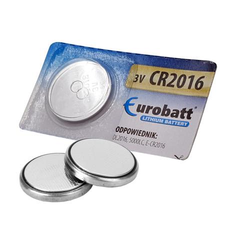 Baterie EUROBATT CR2016, lithiová baterie 3V