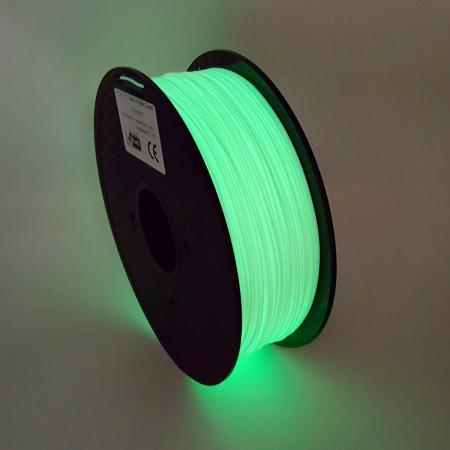 MKF Filament MKF-PLA F1.75 bílá/zeleně FOSFORESKUJÍCÍ, Tisková struna PLA 1,75 mm 1 Kg pro 3D tiskárnu