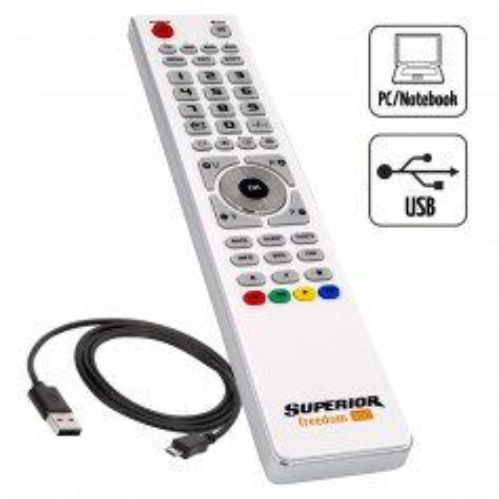 Superior FREEDOM 4v1 USB Bílá - Univerzální dálkový ovladač pro 4 přístroje s USB připojením k PC