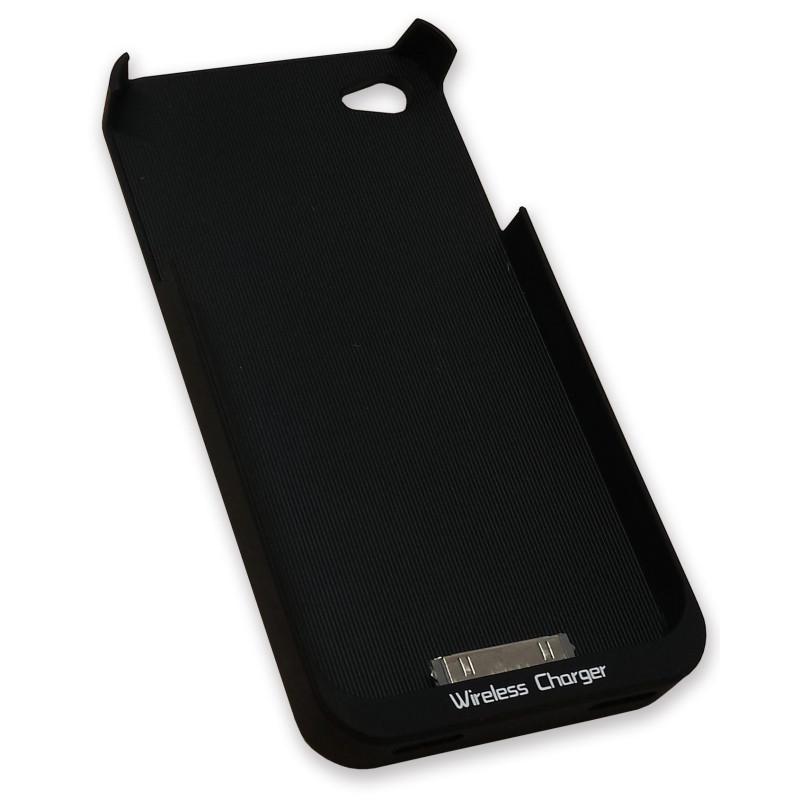 InHouse MKF-WR2 i4/i4S černé pouzdro telefonu s nabíjecí indukční cívkou pro iPhone 4/4S