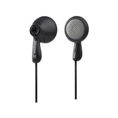 Meliconi EP100 Black Stereo sluchátka provední pecky s kabelem a konektorem Jack 3,5mm