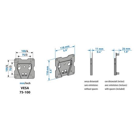 Meliconi CME ES100,  Fixní držák na TV  pro LCD nebo LED TV