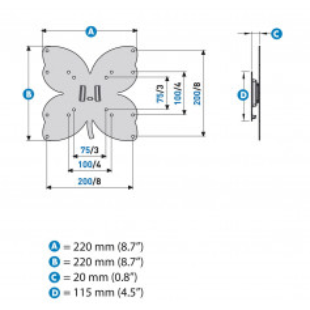 Meliconi Stile S200 černá - fixní slimový držák pro LED a LCD TV