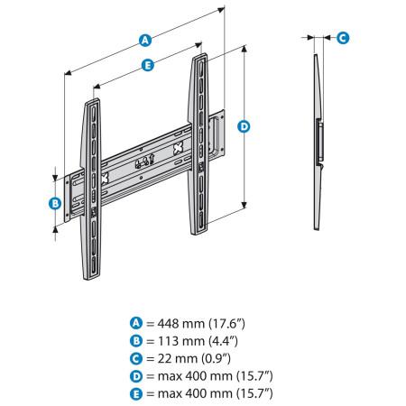 Meliconi Stile S400 Fixní držák pro LED a LCD TV
