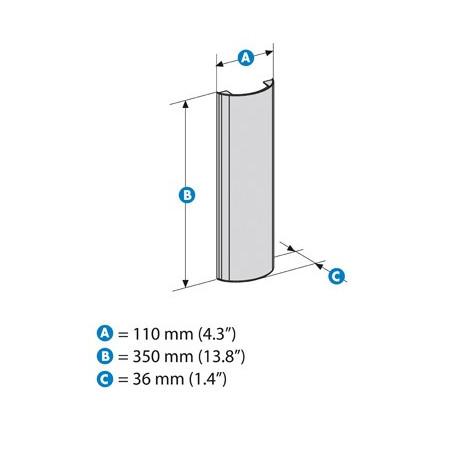 Kryt kabelů Meliconi Stile Line Cover Double WHITE - k držáku na TV, délka 35cm
