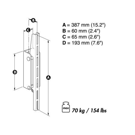 Meliconi Space System Flat 1 - Fixní držák na plazmové.LED a LCD TV