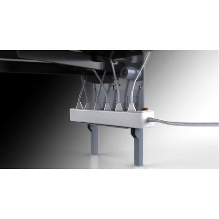 Meliconi Ghost Design 2000 Piano Black Nástěnný držák pro TV a 2 poličky