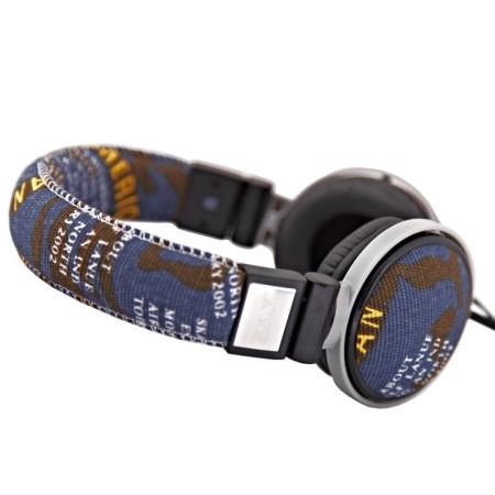 Stereo sluchátka XX.Y CAMOUFLAGE 10 Blue v Jeans provedení s ovládáním hlasitosti