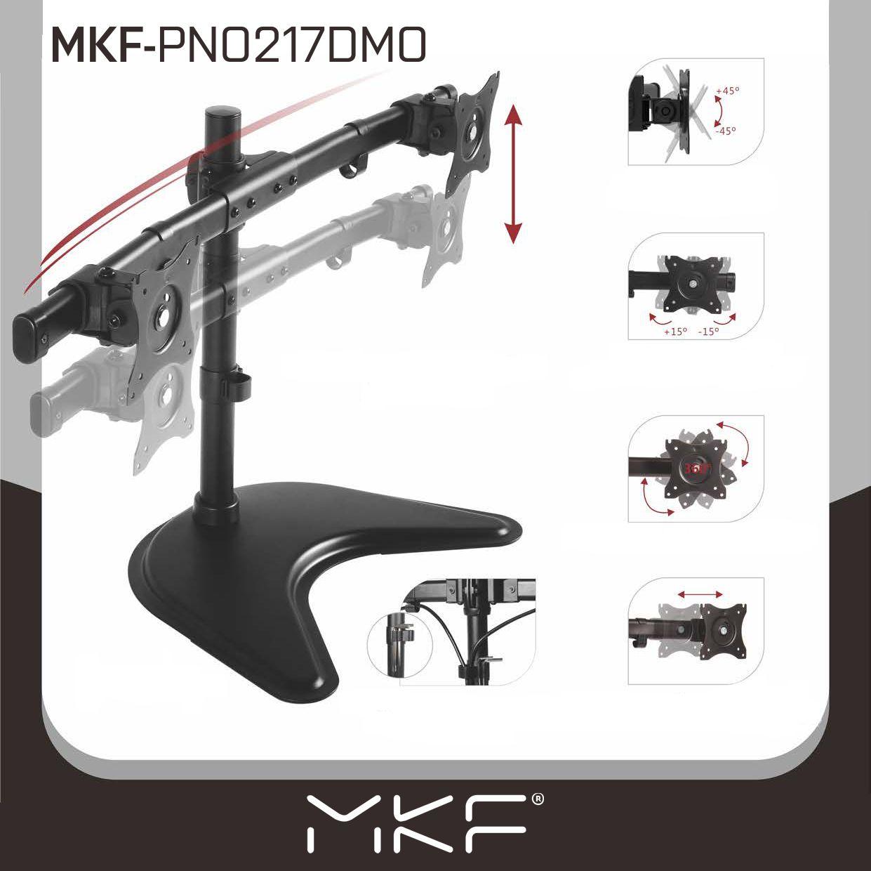 Držák na monitory, MKF-PNO217DMO, Držák, Monitory, držák na stůl