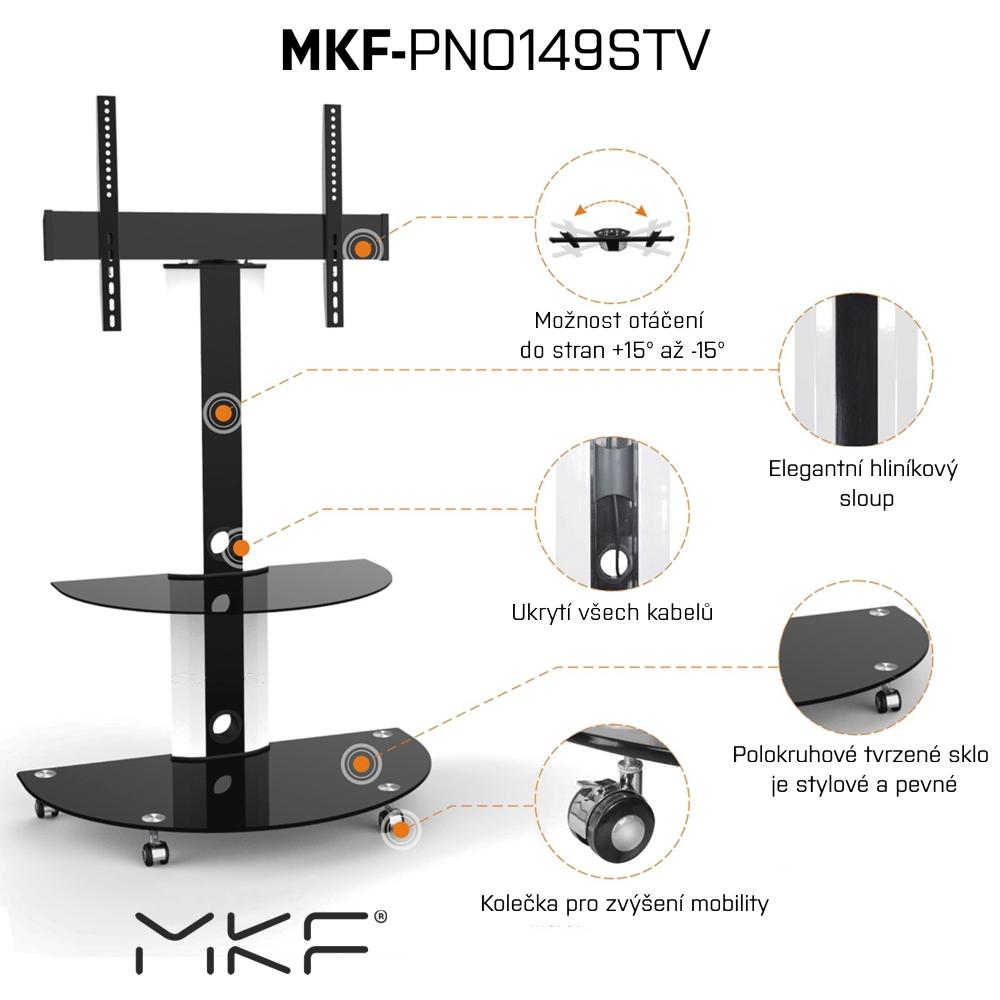 Stojan na TV, MKF-PNO149STV, stojan s držákem na TV