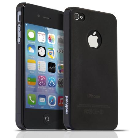 Pouzdro Meliconi iPhone 4/4s SLIM smoky  a ochraná fólie na display