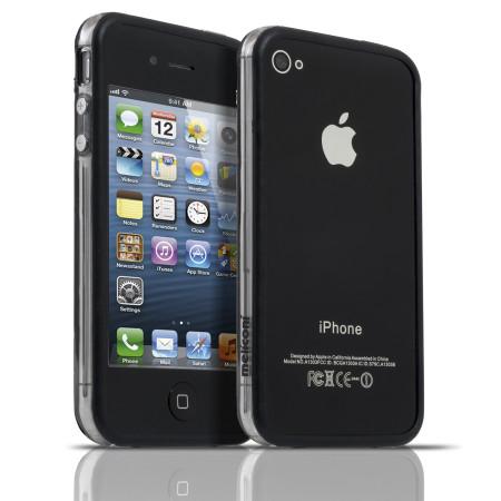 Pouzdro Meliconi iPhone 4/4s BUMPER černé a 2ks ochraná fólie na display a zadní stranu telefonu