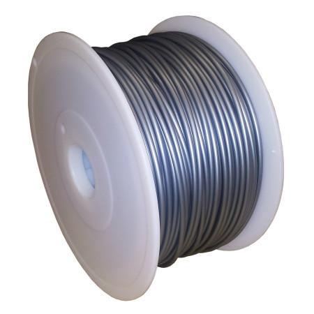 MKF Filament MKF-PLA F3.0 stříbrná, Tisková struna PLA 3,0 mm 1 Kg pro 3D tiskárnu