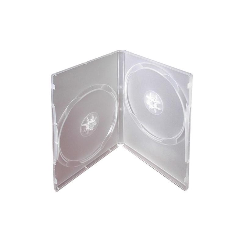 InHouse DVD-2T Krabička na 2ks DVD transparent, tloušťka 14mm